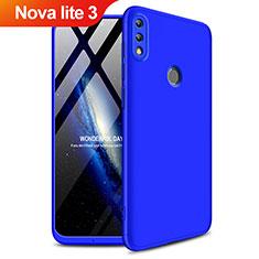 Huawei Nova Lite 3用ハードケース プラスチック 質感もマット 前面と背面 360度 フルカバー Q01 ファーウェイ ネイビー