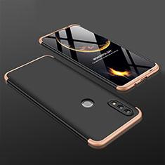 Huawei Nova Lite 3用ハードケース プラスチック 質感もマット 前面と背面 360度 フルカバー ファーウェイ ゴールド・ブラック