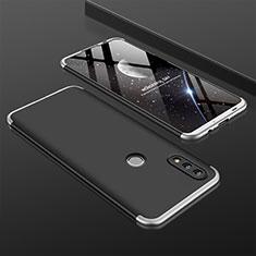 Huawei Nova Lite 3用ハードケース プラスチック 質感もマット 前面と背面 360度 フルカバー ファーウェイ シルバー