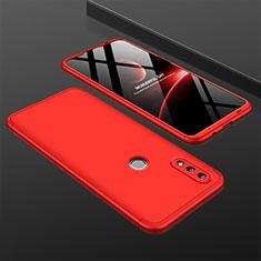 Huawei Nova Lite 3用ハードケース プラスチック 質感もマット 前面と背面 360度 フルカバー ファーウェイ レッド