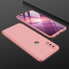 Huawei Nova Lite 3用ハードケース プラスチック 質感もマット 前面と背面 360度 フルカバー ファーウェイ ローズゴールド