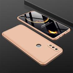 Huawei Nova Lite 3用ハードケース プラスチック 質感もマット 前面と背面 360度 フルカバー ファーウェイ ゴールド