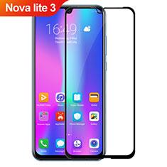 Huawei Nova Lite 3用強化ガラス フル液晶保護フィルム ファーウェイ ブラック