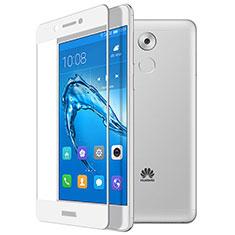 Huawei Nova Smart用強化ガラス フル液晶保護フィルム ファーウェイ ホワイト
