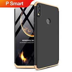 Huawei P Smart (2019)用ハードケース プラスチック 質感もマット 前面と背面 360度 フルカバー Q01 ファーウェイ ゴールド・ブラック