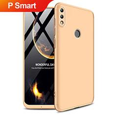 Huawei P Smart (2019)用ハードケース プラスチック 質感もマット 前面と背面 360度 フルカバー Q01 ファーウェイ ゴールド