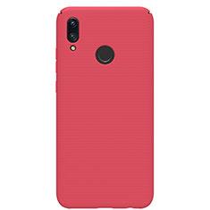 Huawei P Smart (2019)用ハードケース プラスチック 質感もマット M01 ファーウェイ レッド
