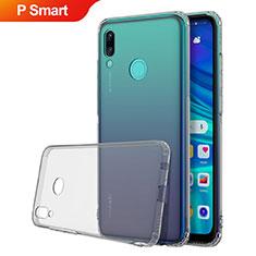 Huawei P Smart (2019)用極薄ソフトケース シリコンケース 耐衝撃 全面保護 クリア透明 H01 ファーウェイ グレー