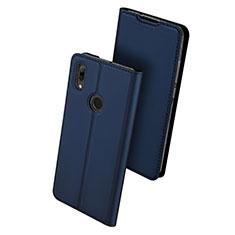 Huawei P Smart (2019)用手帳型 レザーケース スタンド カバー L01 ファーウェイ ネイビー