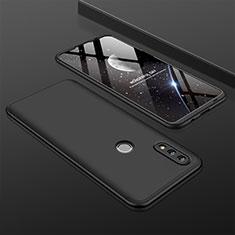 Huawei P Smart (2019)用ハードケース プラスチック 質感もマット 前面と背面 360度 フルカバー ファーウェイ ブラック