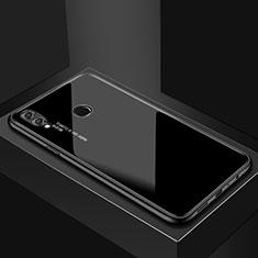 Huawei P Smart (2019)用ハイブリットバンパーケース プラスチック 鏡面 カバー ファーウェイ ブラック