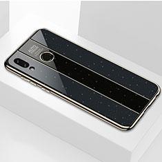 Huawei P Smart (2019)用ハイブリットバンパーケース プラスチック 鏡面 カバー M01 ファーウェイ ブラック