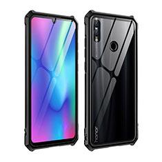 Huawei P Smart (2019)用ケース 高級感 手触り良い アルミメタル 製の金属製 バンパー 鏡面 カバー ファーウェイ ブラック