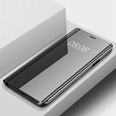 Huawei P Smart (2019)用手帳型 レザーケース スタンド 鏡面 カバー ファーウェイ ブラック