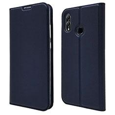 Huawei P Smart (2019)用手帳型 レザーケース スタンド カバー L07 ファーウェイ ネイビー