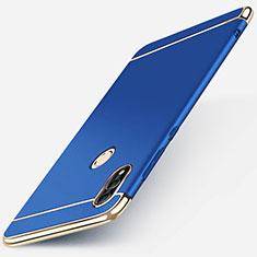 Huawei P Smart (2019)用ケース 高級感 手触り良い メタル兼プラスチック バンパー M01 ファーウェイ ネイビー