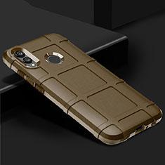 Huawei P Smart (2019)用前面と背面 360度 フルカバー 極薄ソフトケース シリコンケース 耐衝撃 全面保護 バンパー ファーウェイ ゴールド