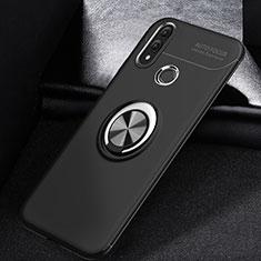 Huawei P Smart (2019)用極薄ソフトケース シリコンケース 耐衝撃 全面保護 アンド指輪 マグネット式 バンパー A01 ファーウェイ ブラック