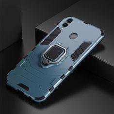 Huawei P Smart (2019)用ハイブリットバンパーケース プラスチック アンド指輪 兼シリコーン カバー ファーウェイ ネイビー