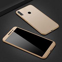 Huawei P Smart (2019)用ハードケース プラスチック 質感もマット 前面と背面 360度 フルカバー M01 ファーウェイ ゴールド