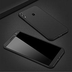 Huawei P Smart (2019)用ハードケース プラスチック 質感もマット 前面と背面 360度 フルカバー M01 ファーウェイ ブラック