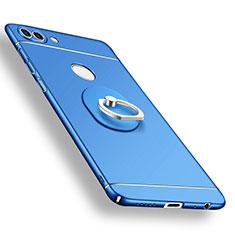 Huawei P Smart用ハードケース プラスチック 質感もマット アンド指輪 A02 ファーウェイ ネイビー