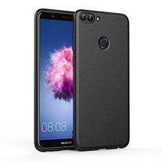 Huawei P Smart用シリコンケース ソフトタッチラバー ファーウェイ ブラック
