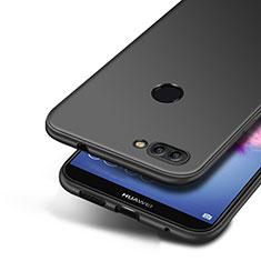 Huawei P Smart用極薄ソフトケース シリコンケース 耐衝撃 全面保護 S04 ファーウェイ ブラック