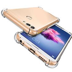 Huawei P Smart用極薄ソフトケース シリコンケース 耐衝撃 全面保護 クリア透明 T06 ファーウェイ クリア