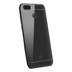 Huawei P Smart用極薄ソフトケース シリコンケース 耐衝撃 全面保護 クリア透明 H03 ファーウェイ ブラック