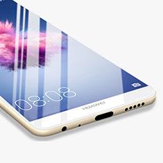 Huawei P Smart用強化ガラス フル液晶保護フィルム F03 ファーウェイ ホワイト