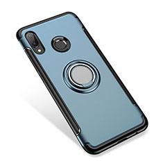 Huawei P Smart+ Plus用ハイブリットバンパーケース プラスチック アンド指輪 兼シリコーン カバー ファーウェイ ネイビー