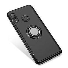Huawei P Smart+ Plus用ハイブリットバンパーケース プラスチック アンド指輪 兼シリコーン カバー ファーウェイ ブラック