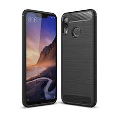 Huawei P Smart+ Plus用シリコンケース ソフトタッチラバー ツイル カバー ファーウェイ ブラック