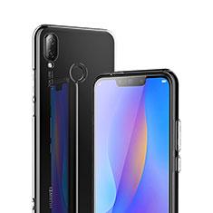 Huawei P Smart+ Plus用極薄ソフトケース シリコンケース 耐衝撃 全面保護 クリア透明 T02 ファーウェイ クリア