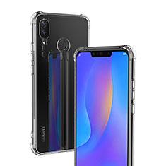 Huawei P Smart+ Plus用極薄ソフトケース シリコンケース 耐衝撃 全面保護 クリア透明 T04 ファーウェイ クリア