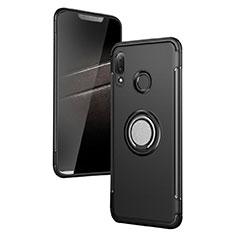 Huawei P Smart+ Plus用ハイブリットバンパーケース プラスチック アンド指輪 兼シリコーン ファーウェイ ブラック