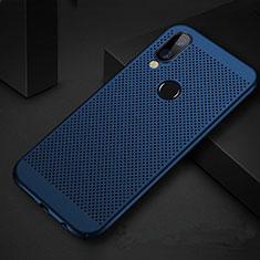 Huawei P Smart+ Plus用ハードケース プラスチック メッシュ デザイン カバー ファーウェイ ネイビー