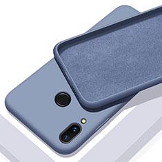 Huawei P Smart+ Plus用360度 フルカバー極薄ソフトケース シリコンケース 耐衝撃 全面保護 バンパー ファーウェイ ネイビー