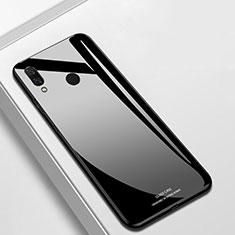 Huawei P Smart+ Plus用ハイブリットバンパーケース プラスチック 鏡面 カバー ファーウェイ ブラック