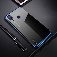 Huawei P Smart+ Plus用極薄ソフトケース シリコンケース 耐衝撃 全面保護 クリア透明 H03 ファーウェイ ネイビー