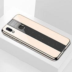 Huawei P Smart+ Plus用ハイブリットバンパーケース プラスチック 鏡面 カバー M01 ファーウェイ ゴールド