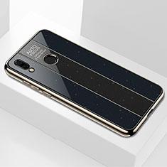 Huawei P Smart+ Plus用ハイブリットバンパーケース プラスチック 鏡面 カバー M01 ファーウェイ ブラック