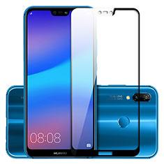 Huawei P Smart+ Plus用強化ガラス フル液晶保護フィルム F02 ファーウェイ ゴールド