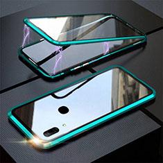 Huawei P Smart Z用ケース 高級感 手触り良い アルミメタル 製の金属製 360度 フルカバーバンパー 鏡面 カバー ファーウェイ グリーン