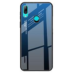 Huawei P Smart Z用ハイブリットバンパーケース プラスチック 鏡面 虹 グラデーション 勾配色 カバー ファーウェイ ネイビー