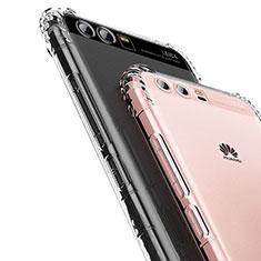 Huawei P10用極薄ソフトケース シリコンケース 耐衝撃 全面保護 クリア透明 U01 ファーウェイ クリア