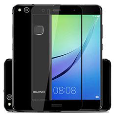 Huawei P10 Lite用強化ガラス フル液晶保護フィルム ファーウェイ ブラック