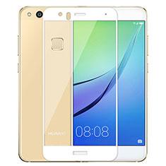 Huawei P10 Lite用強化ガラス フル液晶保護フィルム ファーウェイ ホワイト