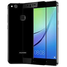 Huawei P10 Lite用強化ガラス フル液晶保護フィルム F03 ファーウェイ ブラック